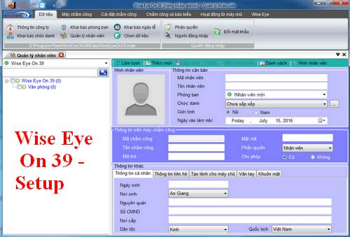 Download file cài đặt và hướng dẫn sử dụng Phần mềm chấm công Wise Eye (các phiên bản)