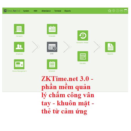 Download file cài đặt và hướng dẫn sử dụng Phần mềm chấm công ZKTime.net3.0 Vietnam