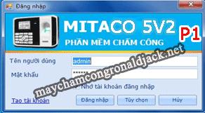 Hướng dẫn cài đặt và sử dụng phần mềm chấm công Mitaco 5V2- Phần 1