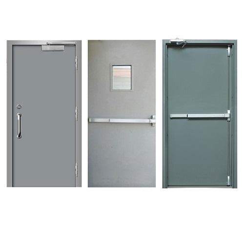 Máy chấm công, chấm vân tay kiểm soát cửa ra - vào văn phòng cửa Sắt, Thép