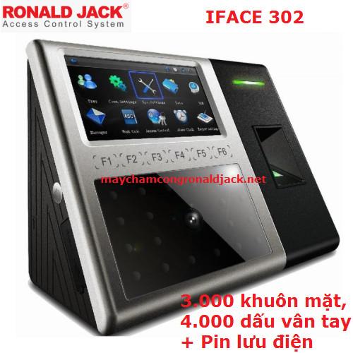 Máy chấm công Khuôn mặt, Vân tay RONALD JACK  IFACE 302