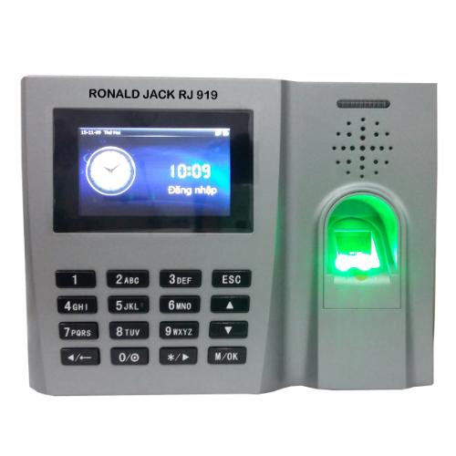 Máy chấm công vân tay, thẻ cảm ứng RONALD JACK RJ919