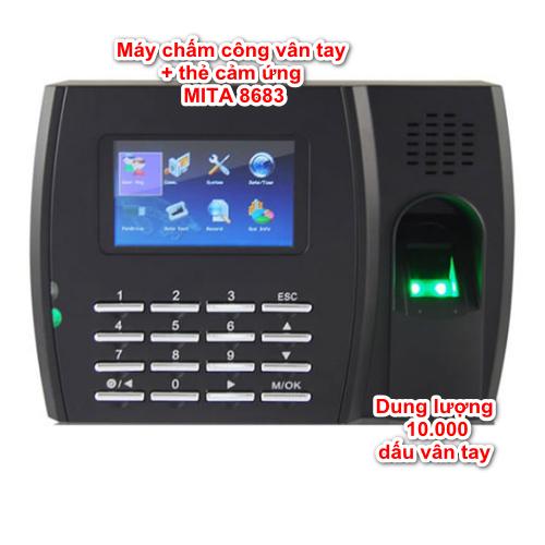 Máy chấm công vân tay thẻ cảm ứng MITA 8683