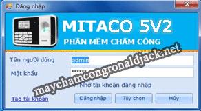 Mitaco 5V2 - Phần mềm miễn phí cho máy chấm công