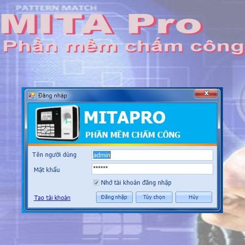 MITAPRO V1 - Phần mềm chấm công quản lý vân tay, gương mặt