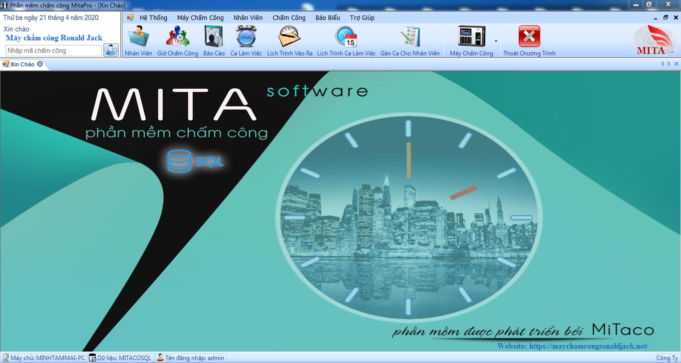 Phần mềm chấm công Mitapro mới nhất năm 2020